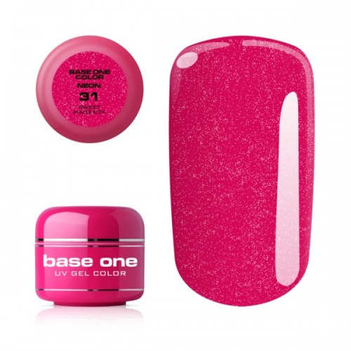 Gel Neon 23 Fresh Green Base One Silcare  SILCARE