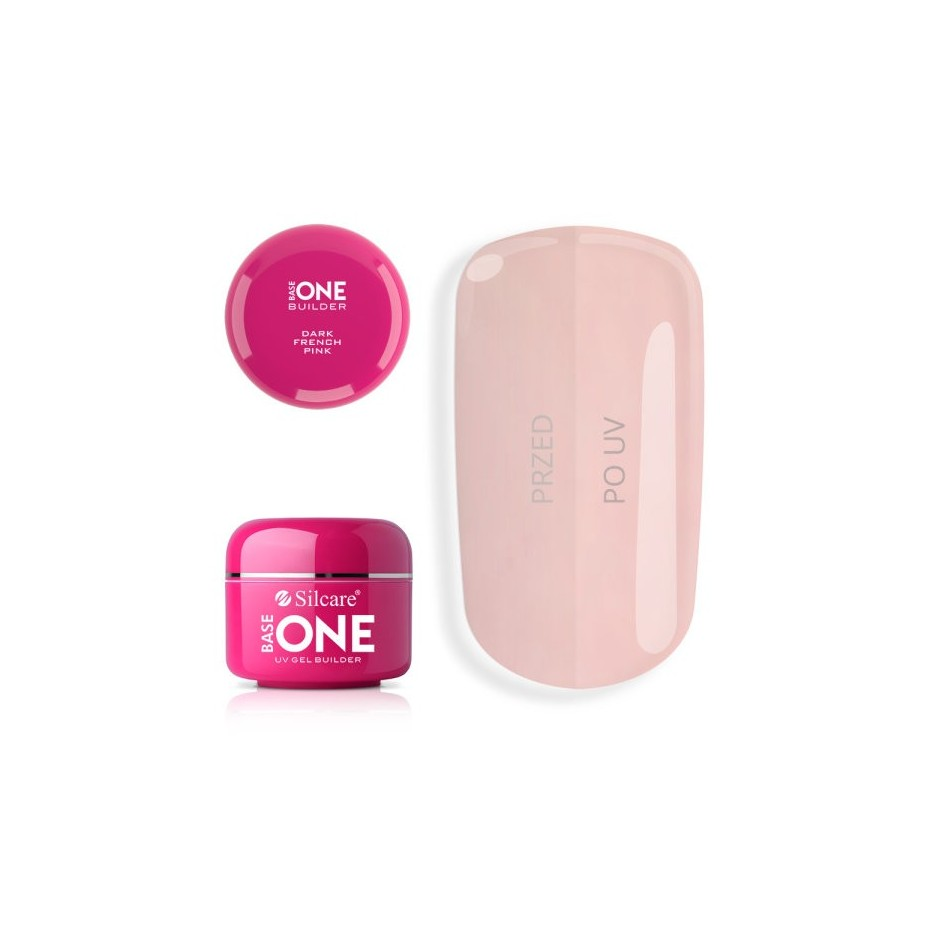 French Pink Dark Gel Unghii Base One Silcare  SILCARE