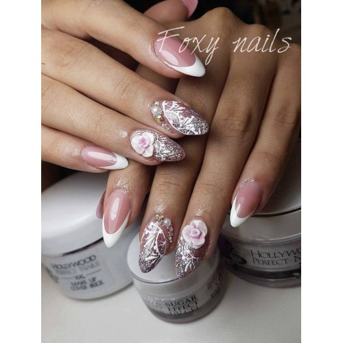 Magic Glitter 01 Snow White Gel Unghii HPN  HOLLYWOOD PERFECT NAILS