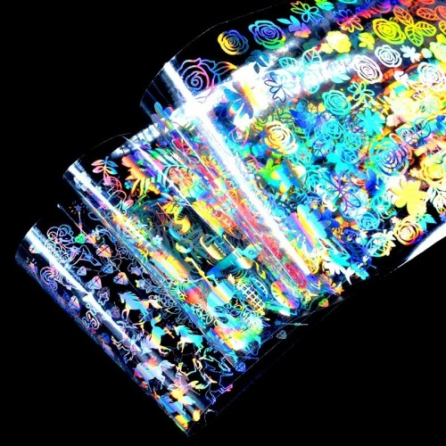 Pudra Holografica - Sclipici Rainbow SET 12 G503 HOLLYWOOD PERFECT NAILS